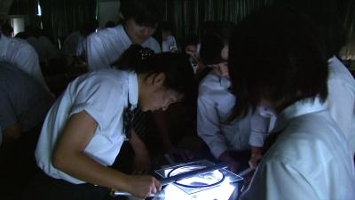 園部高校付属中学放射線実験